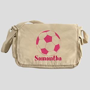 Pink Soccer Ball Messenger Bag