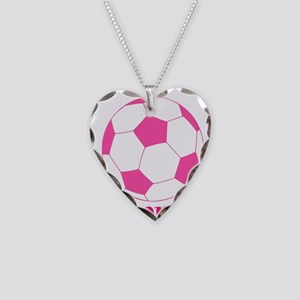 Pink Soccer Ball Necklace