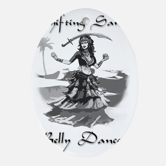 Shifting Sands Belly Dance Oval Ornament