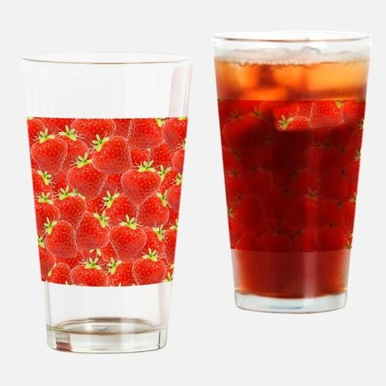 Envie de fraises Drinking Glass