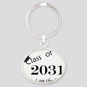 Born in 2013/Class of 2031 Oval Keychain