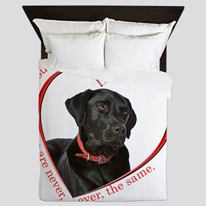 Lab Paw Prints Queen Duvet