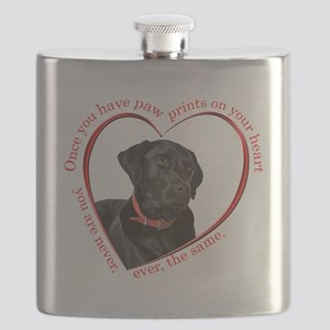 Lab Paw Prints Flask