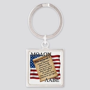 Second Amendment 2 Dark Square Keychain
