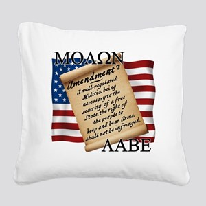 Second Amendment 2 Dark Square Canvas Pillow