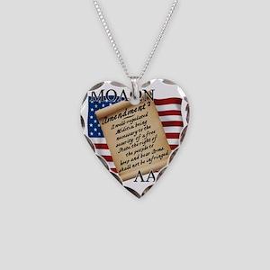Second Amendment 2 Dark Necklace Heart Charm