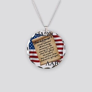 Second Amendment 2 Dark Necklace Circle Charm