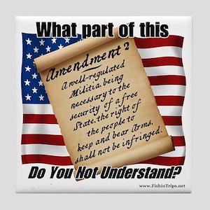 Second Amendment 1 Tile Coaster