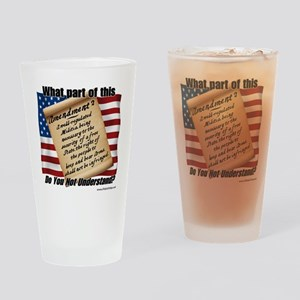 Second Amendment 1 Drinking Glass