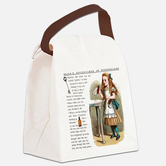 Alice in Wonderland Drink Me Canvas Lunch Bag
