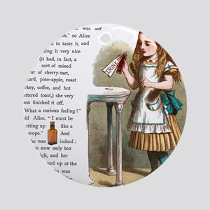 Alice in Wonderland Drink Me Round Ornament