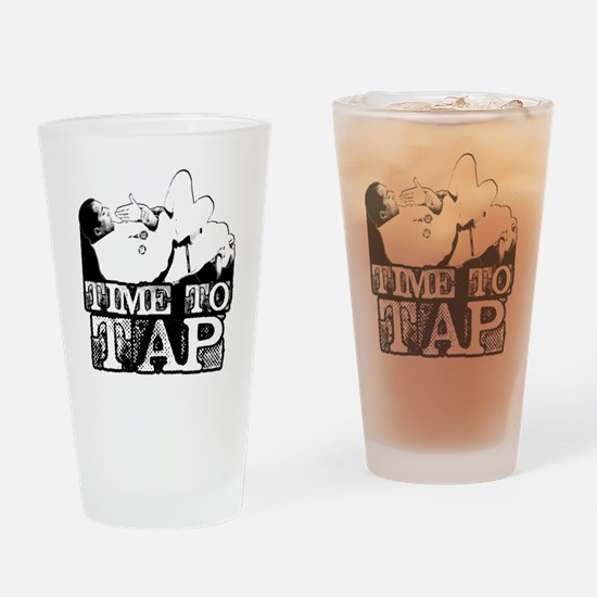 Time To Tap Drinking Glass