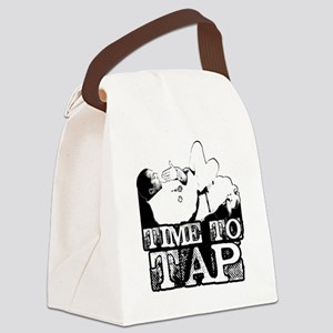Time To Tap Canvas Lunch Bag