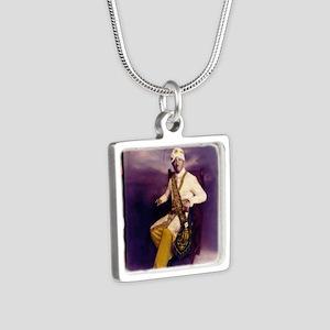 Mo Sense Series Silver Square Necklace