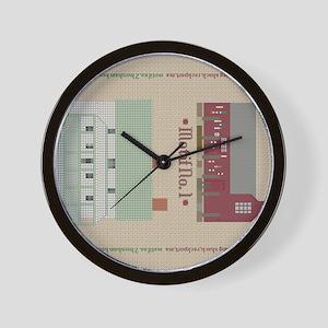 New England Motifs Landscape Style Wall Clock