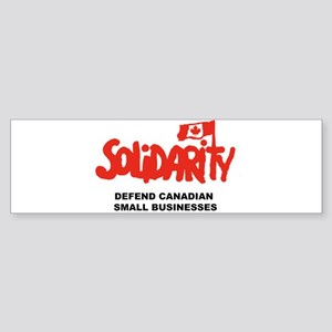 Solidarity Canada Bumper Sticker