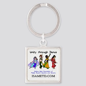 ISAMETD - Unity Through Dance Square Keychain