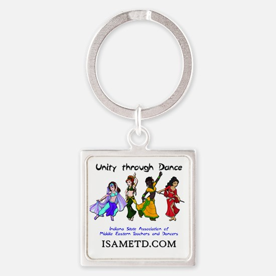 ISAMETD - Unity Through Dance Square Keychain