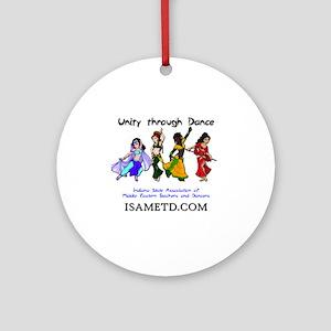 ISAMETD - Unity Through Dance Round Ornament