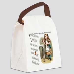 Alice in Wonderlan Drink Me Canvas Lunch Bag
