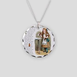 Alice in Wonderlan Drink Me Necklace Circle Charm