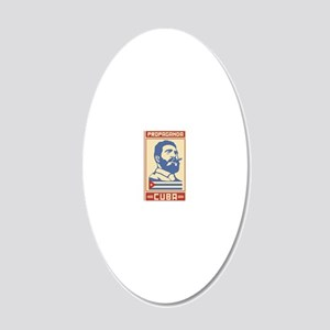 Castro Cuba comunist vintage 20x12 Oval Wall Decal