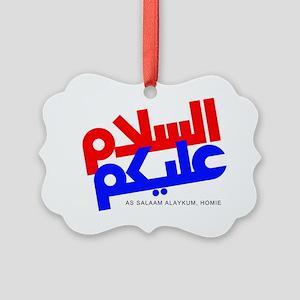 As Salaam Alaykum 2 Picture Ornament
