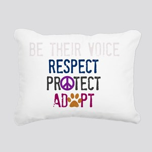 Be Their Voice (2) Rectangular Canvas Pillow