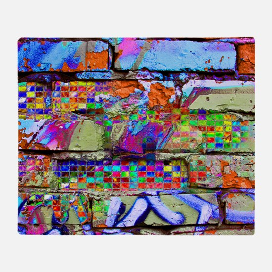 The Wow Abstract Wall Throw Blanket