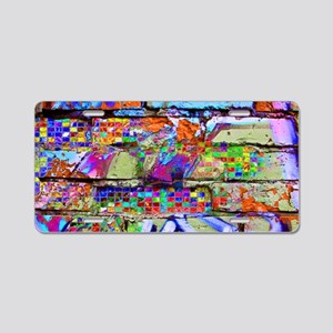 The Wow Abstract Wall Aluminum License Plate