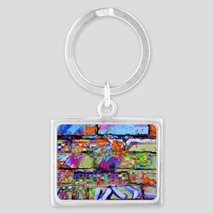 The Wow Abstract Wall Landscape Keychain