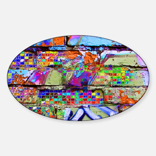 The Wow Abstract Wall Sticker (Oval)
