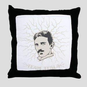 team-tesla-DKT Throw Pillow