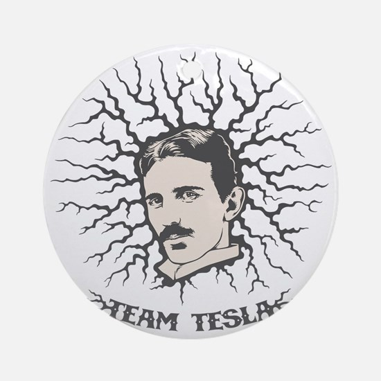 team-tesla-LTT Round Ornament