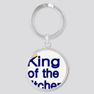 King of the Kitchen Round Keychain