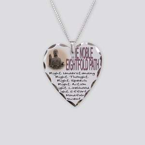 THE NOBLE EIGHTFOLD PATH Necklace Heart Charm