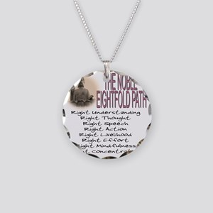THE NOBLE EIGHTFOLD PATH Necklace Circle Charm