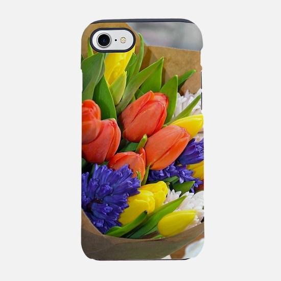 Colorful tulip bouquet iPhone 7 Tough Case