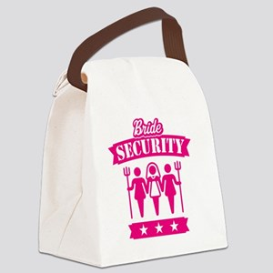 Bride Security (Hen Party / Pink) Canvas Lunch Bag