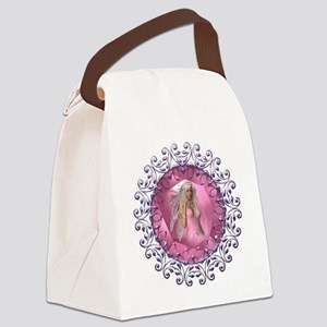 Pink Jewel Fairy Canvas Lunch Bag
