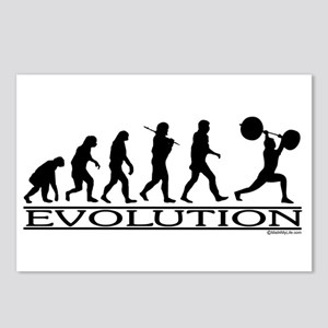 Evolution (Man Weightlifting) Postcards (Package o
