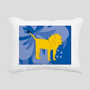 Lion Glass Cutting Board Rectangular Canvas Pillow
