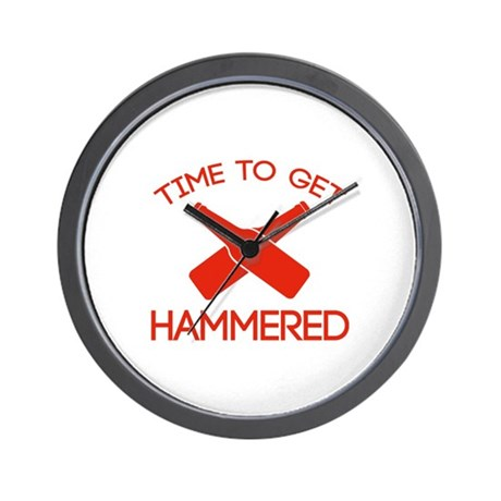 Time To Get Hammered Wall Clock