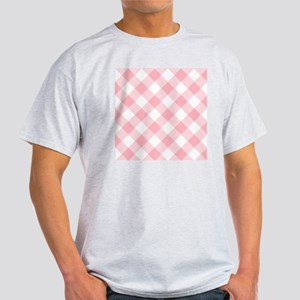 Light Pink and White Gingham Light T-Shirt
