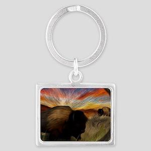 buffalo grass dance Landscape Keychain