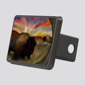 buffalo grass dance Rectangular Hitch Cover