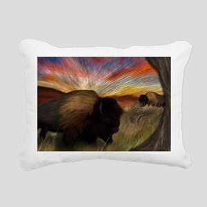 buffalo grass dance Rectangular Canvas Pillow