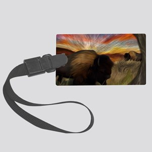 buffalo grass dance Large Luggage Tag