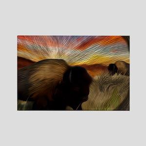 buffalo grass dance Rectangle Magnet