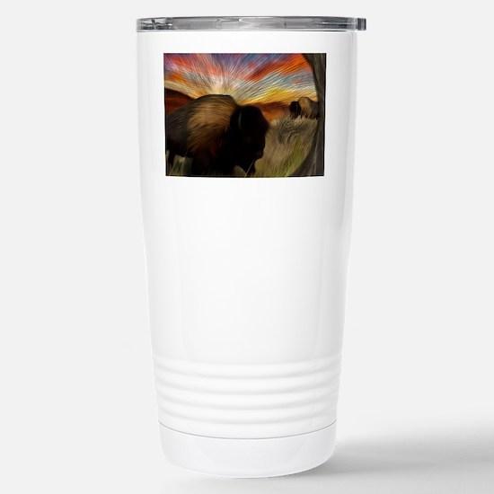 buffalo grass dance Stainless Steel Travel Mug